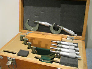 Mitutoyo Micrometer Set 0 6 W standards Carbide 0001