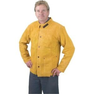 Leather Jacket Welding Jacket Golden Brown Heat And Flame Resistant 3x large