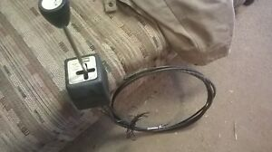 Western Snow Plow Joy Stick Control Black Cables For Cable Pump Snowplow Used 4