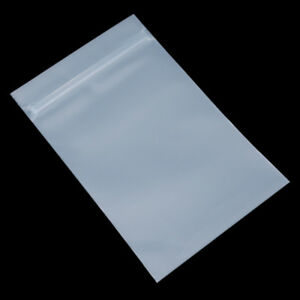 Matte Clear Plastic Zip Lock Small Bag Gift Sample Storage Reclosable Pouches