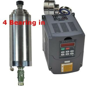 4kw Water cooled Spindle Motor And 4kw Inverter Vfd Engraving Mill Grind Milling