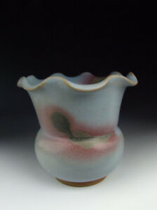 One Nice Chinese Antique Jun Ware Porcelain Petal Mouthed Vase