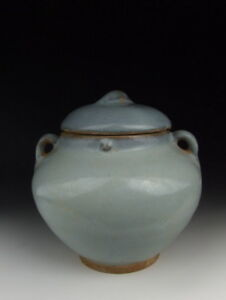 One Nice Chinese Antique Jun Ware Porcelain Lidded Pot