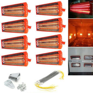 1 2 8sets 2kw Spray Baking Booth Infrared Paint Curing Lamp Heating Light Heater