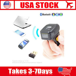 Ring 2d Wireless Bluetooth Led Barcode Scanner Bar Code Reader For Ios Android