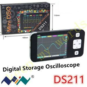 Ds211 Mini Portable 1 Channel Pocket sized Storage Digital Oscilloscope 1m Sa s
