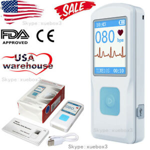 Handheld Portable Ecg Monitor Heart Rate Beat Lcd Bluetooth Electrocardiogram
