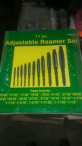 New 11 Piece Adjustable Hand Reamer Set a k 15 32 1 1 2