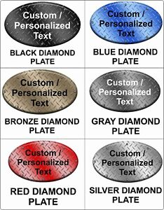 Custom personalized Oval Sign Choose Background Aluminum Metal Sign