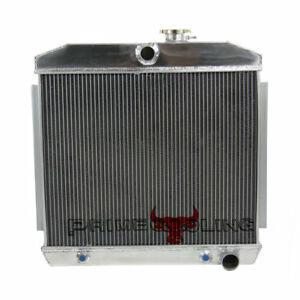 For 1955 1957 1956 Chevy Bel Air W Cooler I6 V8 3 Row Aluminum Radiator