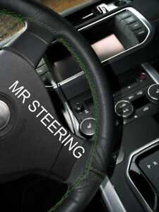 Black Leather Steering Wheel Cover For Lexus Gs Mk3 2005 11 Green Double Stitch