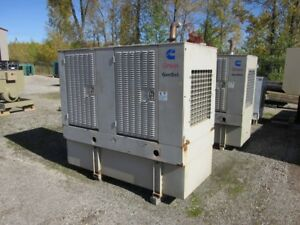 __50 Kw Cummins Onan Generator Set Base Fuel Tank 12 Lead Reconnectable 1