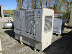 __50 Kw Cummins Onan Generator Set 140 Gallon Base Fuel Tank 12 Lead Reconn