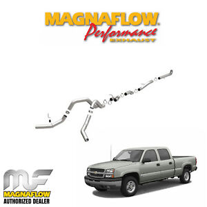 Magnaflow 4 Downpipe Back Dual Exhaust Kit 2001 2004 Chevy Duramax 6 6l Diesel