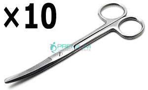 10 Pcs Surgical Operating Mayo Scissors Curved 5 5 Blunt sharp Instruments