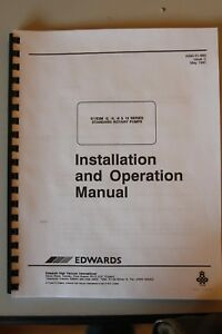 Edwards Vacuum Pump E1 e2m Standard Rotary Installation And Operation Manual