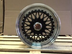 17 Rs Style Wheels Rims Black Fits Honda Civic Insight Crx 4x100
