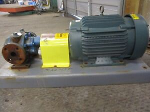 Worthington flowserve 1 1 2 Iron Pump W motor On Base 622713t New