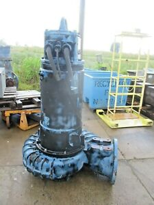 Flygt 14 85hp Iron Submersible Pump W cord 12141022d Used