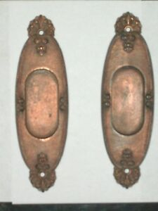 Antique Victorian Pocket Door Pulls 7 1 2 X 2 3 16
