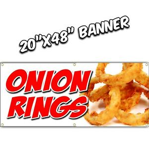 Onion Rings Banner Sign French Fries Deep Fried Curly Chips Nachos Hot Dog Bbq 4