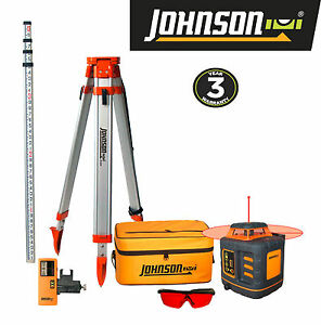 Johnson Level Tool Self leveling Rotary Laser System Free Shipping