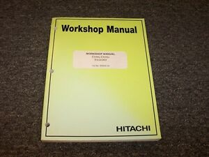 Hitachi Ex40u Ex50u Mini Excavator Workshop Shop Service Repair Manual Book