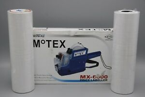 Motex Mx 6600 2 Line Pricing Gun With 28 Rolls Of Stickers