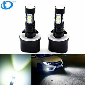 New 2x 880 899 50w 6000k White Cree High Power Led Projector Fog Lights Bulbs Us