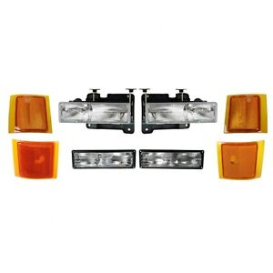 1994 1995 1996 1997 1998 Chevy Suburban Headlight Park Side Lamp Combo