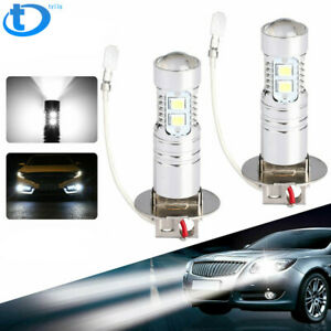 Fog Lights Bulbs White H3 50w Cree Led 6000k Fit For 2000 2004 Toyota Corolla