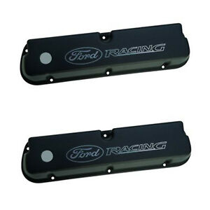 New Oem Ford Racing Black Satin ford Racing Logo Valve Covers M6582le302bk