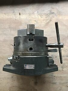 Yuasa 550 006 Accu dex Rotary Indexer W 3 Jaw Chuck Great Condition For Lathe