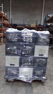 Plastic Tote Bins With Handles Industrial Heavy Duty lot Of 36 Units Lot 13