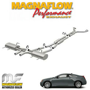 Magnaflow 2 25 Cat Back Stainless Dual Exhaust System 2011 Cadillac Cts 3 6l V6