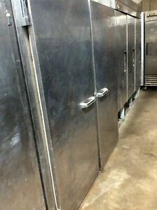 Victory Fis 2d s7 Stainless 2 Door Reach In Freezer