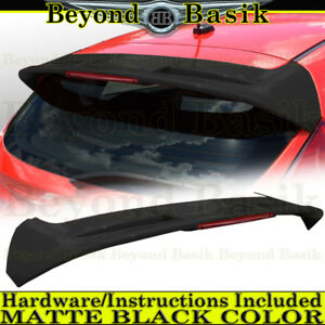 2011 2018 Ford Fiesta Hatchback Matte Black St Factory Style Spoiler Wing