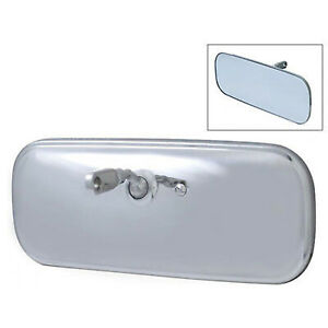 60 71 Chevy Gmc Pickup Truck Stainless Inside Interior Rear View Glass Mirror