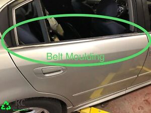 2003 Nissan Altima Right Rear Door Belt Moulding