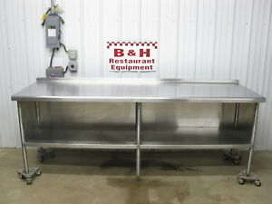 8 X 2 6 Stainless Steel Heavy Duty Kitchen Cabinet Work Prep Table 96 X 30