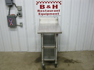 John Boos 18 Stainless Steel Heavy Duty Work Table W Double Under Shelf