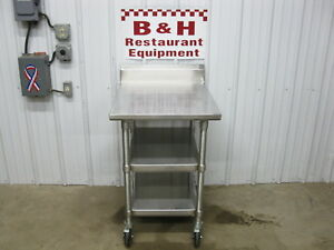 John Boos 24 Stainless Steel Heavy Duty Work Table W Double Under Shelf 2