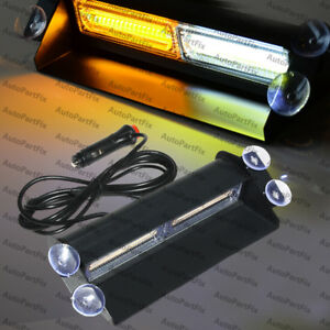 Cob White Amber Light Emergency Car Vehicle Warn Strobe Flash Brighter Than Led