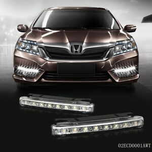 Drl 2x Slim Fog Daytime Daylight Running Light Lamp 8 Smd Led Car