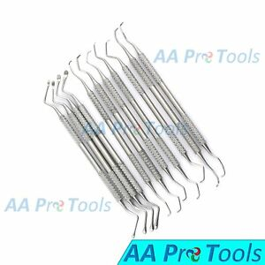Aa Pro Gracey 7 Pcs Lucas 4 Pcs Double Ended Dental Periodontal Stainless Steel