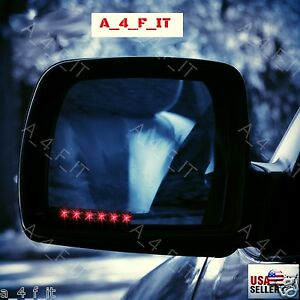 Side Mirror Led Turn Signal Lights Red For Car Truck Or Suv