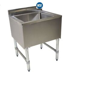 Stainless Steel Under Bar Insulated Ice Bin Chest 24 X 18 Nsf
