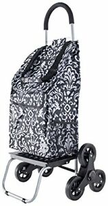 New Trolley Dolly Stair Climber Damask Grocery Foldable Cart Condo Apartment