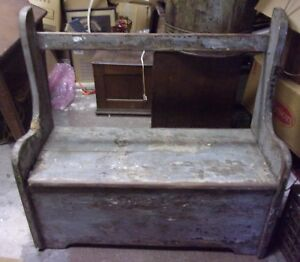 Primitive Farm House Outside Bench Over 100 Years Old Hand Made