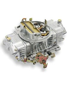 Holley 4150 Double Pumper Carburettor Cfm 600 Square Bore Silver 0 4776s
